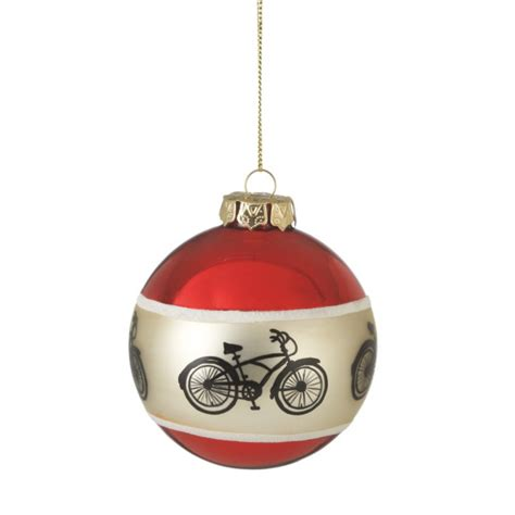 bicycle silhouette ball christmas ornament