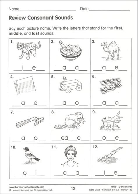 phonics worksheets year one blends worksheet