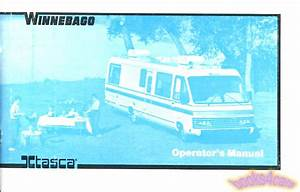 Winnebago Ithasca Manual Owner 1985 Motorhome