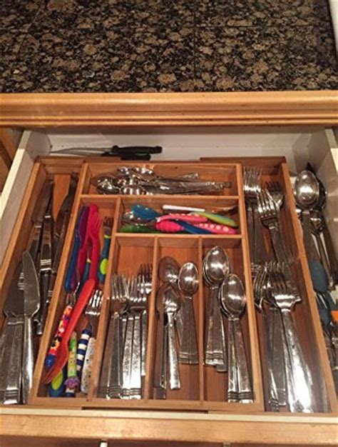 kitchen silverware organizer silverware kitchen drawer organizer expandable bamboo 2545
