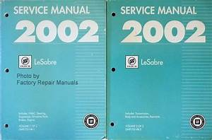 2002 Buick Lesabre Factory Service Manual Set Original