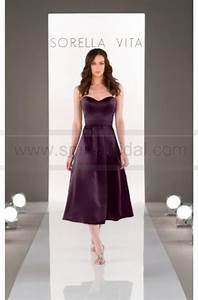 sorella vita midi length bridesmaid dress style 8652 With midi length wedding dress