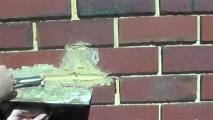 How To Repair Damaged Mortar Joints In Brick Wall Youtube