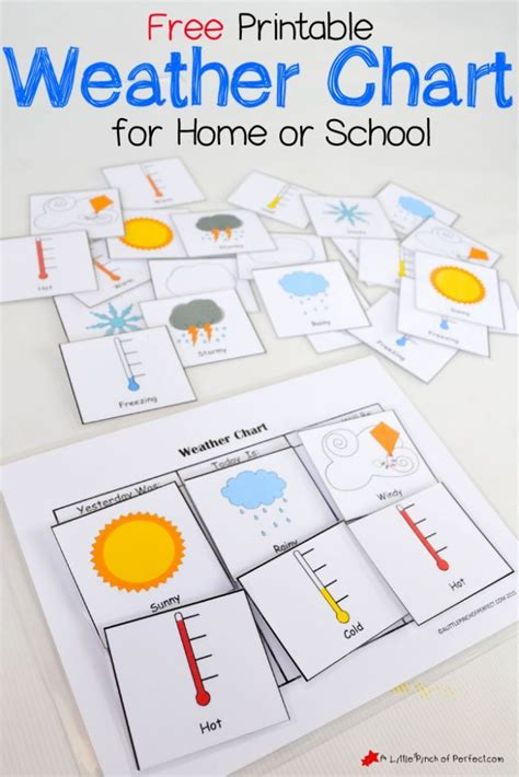 printable weather chart  home  school