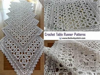 Runner Table Crochet Patterns Runners Funky Crocheted