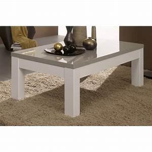 Table Basse Blanche Rectangulaire : table basse rectangulaire design laqu e blanche et grise jewel matelpro ~ Melissatoandfro.com Idées de Décoration