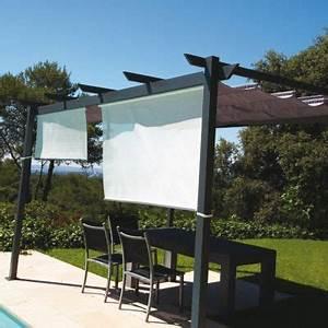 Rideau Exterieur Pour Terrasse : rideau brise soleil gris cm castorama ~ Farleysfitness.com Idées de Décoration