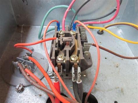 rheem ac new contactor wiring hvac diy chatroom home
