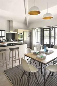 decoration salon salle a manger cuisine choosewellco With ouvrir la cuisine sur le salon