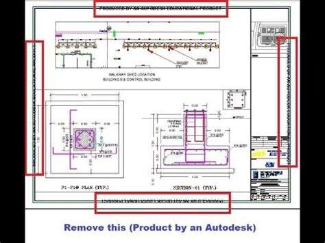 remove educational plot stamp produced   autodesk