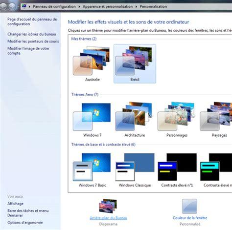 arriere plan bureau comment changer de fond d 39 écran sous windows 7 changer