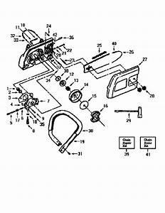Handlebar Diagram  U0026 Parts List For Model 35498 Craftsman