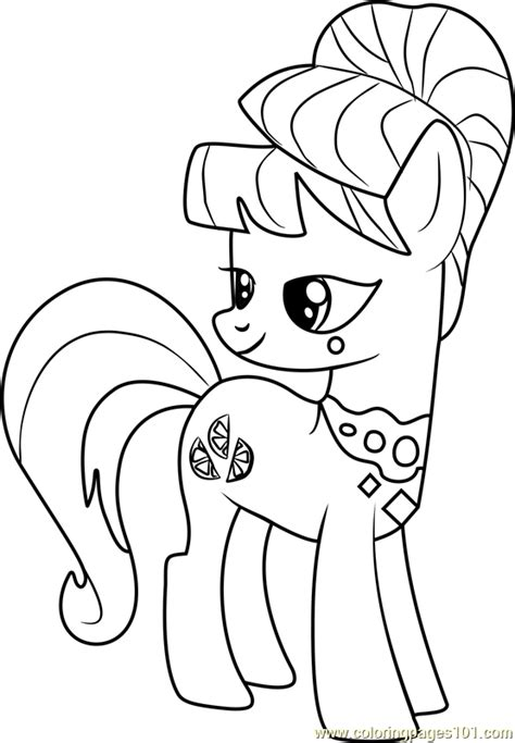 aunt orange coloring page    pony