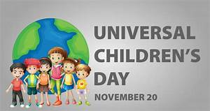 Poster design for Universal children's day Vector | Free ...
