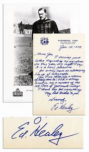 Lot Detail  Football Hall of Famer Ed Healey Autograph Letter Signed  '' I thank God for
