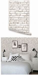 brick white peel and stick wallpaper With best brand of paint for kitchen cabinets with peel n stick wall art
