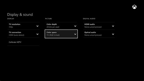 xbox one color space v 237 deo confuso no xbox one tv ou monitor console xbox one