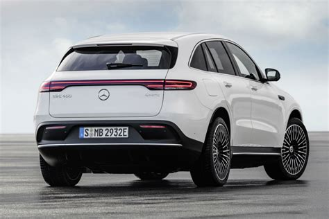 This bundle adds a front splitter, bumper trim, side skirt inserts, mirror caps, and window frames in dignified black. What is the 2020 Mercedes-Benz EQC Crossover SUV?