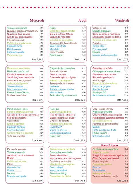menus cuisine collective