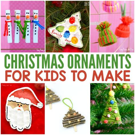 christmas decorations for kids to draw ornaments for to make easy peasy and