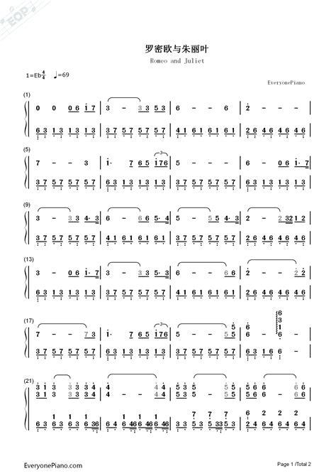 chorus a f#m d e mungkin aku tak setampan romeo a f#m d e aku juga tak bergelimang harta. Romeo and Juliet Numbered Musical Notation Preview