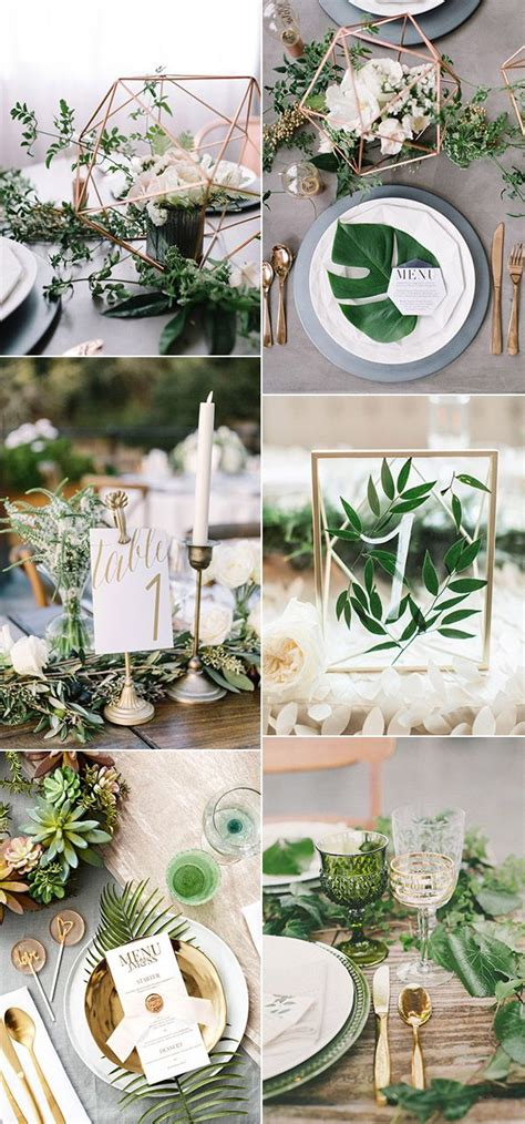 2017 wedding trends 30 botanical ideas to decorate your big day wedding table settings