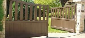 Fixation Portail Battant : portail alu battant portail terrain en pente portail battant ~ Premium-room.com Idées de Décoration