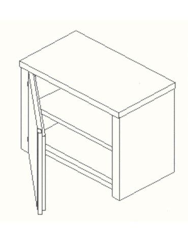 armadietto pensile armadietto pensile inox anta a battente cm 80x40x60h