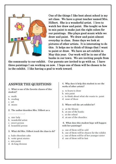 grade reading worksheets  coloring pages