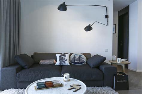 Minimalistische Wohnzimmer Einrichtungsideenmoderne Wohnzimmer Interieur by Minimalistisches Nordisches Interieur Mit Grau Und