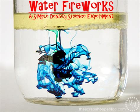 water fireworks science experiment  crafting chicks