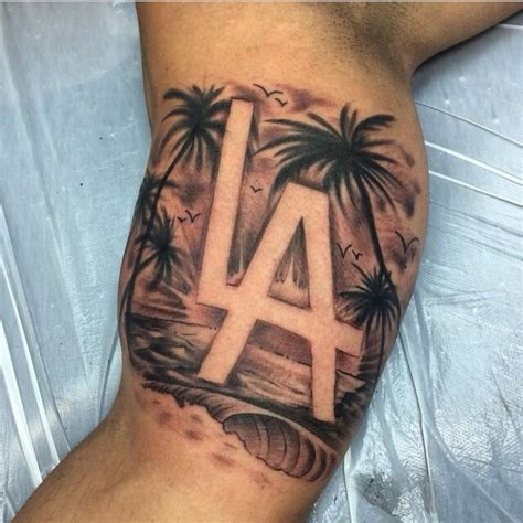 la palm tree tattoo tattoos la tattoo tiki tattoo