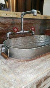 membuat tempat cuci piring  barang bekas
