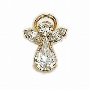 Birthstone Guardian Angel Pin April – St Cloud Book Shop
