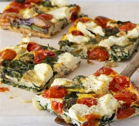 ricotta tomato spinach frittata recipe bbc good food