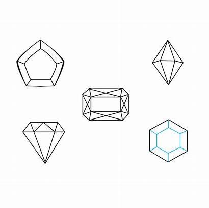 Gems Drawing Draw Step Cut Straight Gemstone