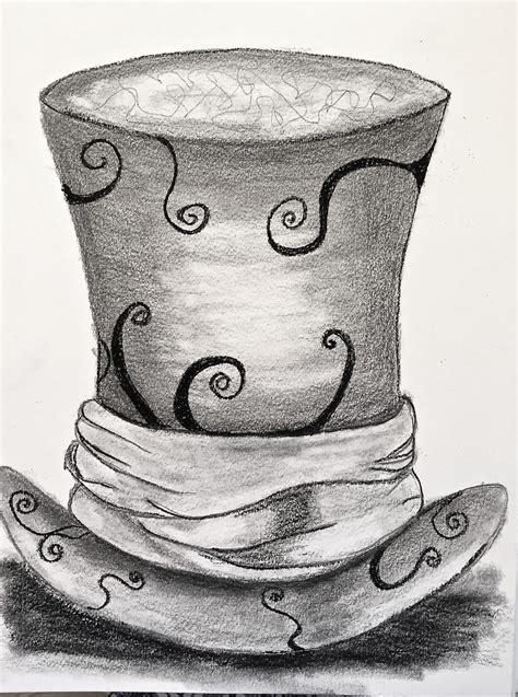 drawing  mad hatter hat  sneak peek
