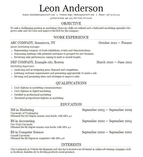 Magna Laude On Resume by Cvtemplates Archive Responsive Cv