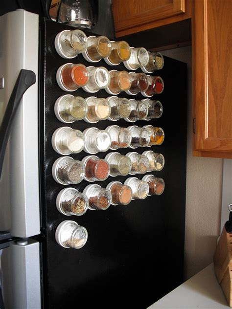 magnetic kitchen storage spices with magnets are placed on fridge kitchen setups 3938