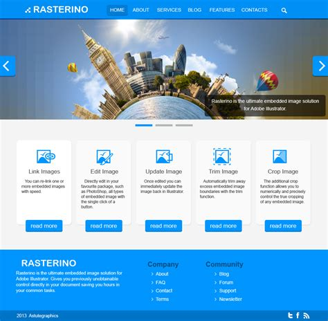 web page design ideas how to use rasterino and illustrator in web design