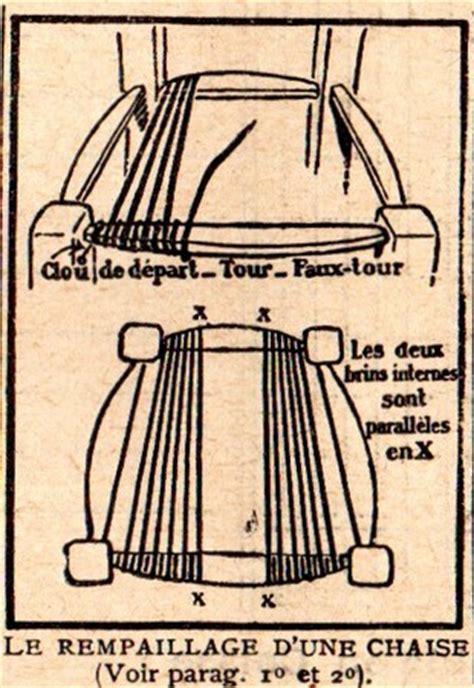 r 233 tro 1925 comment rempailler une chaise