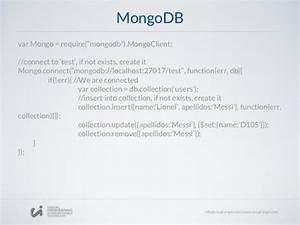 workshop 4 nodejs express framework mongodb With mongodb remove documents