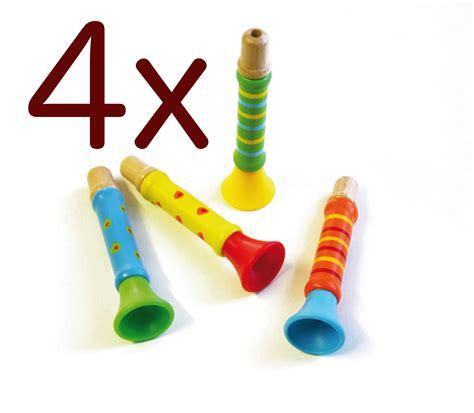 freizeit spiele outdoor trompete f 252 r kinder 4er set freizeit outdoor spiele spielzeugass