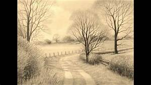 Pencil Drawings: Graphite Pencil Drawings Of Landscapes