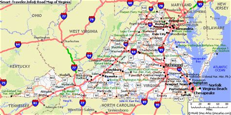map  virginia highways  travel information
