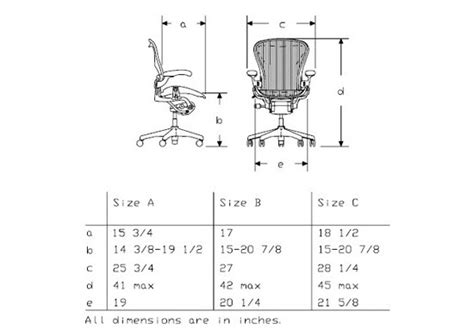 aeron chair size a vs b herman miller aeron chair size b graphite with nickel