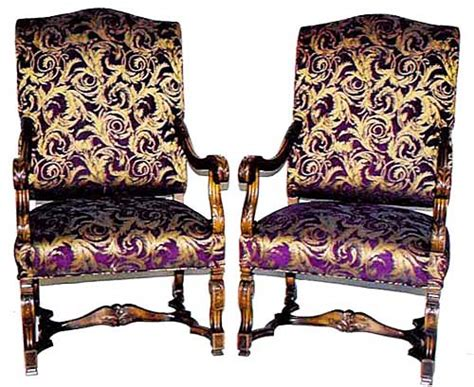 matching pair of louis xiv armchairs in walnut
