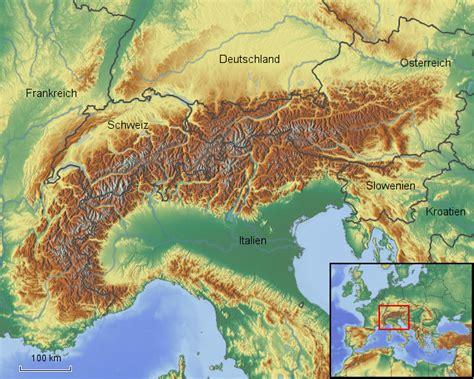 stepmap alpen physisch landkarte fuer oesterreich