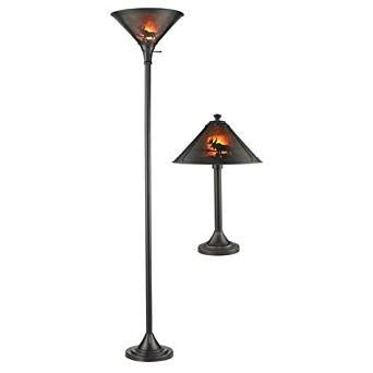 2 bulb torchiere floor l 2 pack antique bronze finish mica wilderness table and