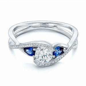 custom blue sapphire and diamond engagement ring 102251 With blue sapphire and diamond wedding rings